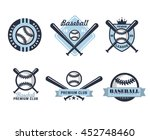 baseball emblems or badges with ... | Shutterstock . vector #452748460