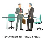 business concept in agreements  ... | Shutterstock . vector #452757838