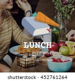 lunch meal health food cook... | Shutterstock . vector #452761264