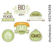 gluten free  natural product... | Shutterstock . vector #452761858
