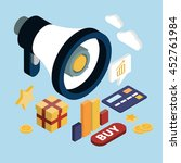 promotion online marketing flat ... | Shutterstock . vector #452761984
