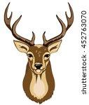 portrait of wild deer with... | Shutterstock .eps vector #452763070