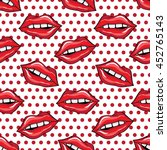 vector seamless pattern of red...   Shutterstock .eps vector #452765143