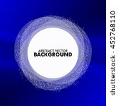 round banner on a blue... | Shutterstock .eps vector #452768110