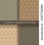 set of star geometric seamless... | Shutterstock .eps vector #452776084