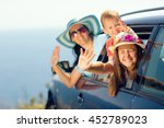 mother with two kids travel by... | Shutterstock . vector #452789023