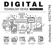 modern digital technology pack. ... | Shutterstock .eps vector #452791798