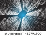 architecture abstract  3d... | Shutterstock . vector #452791900