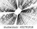 architecture abstract  3d... | Shutterstock . vector #452791918