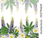 beautiful floral background of... | Shutterstock . vector #452794639