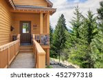 view of small  porch with... | Shutterstock . vector #452797318