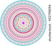 ethnic geometric print.... | Shutterstock .eps vector #452798596