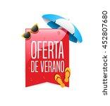 summer offer spanish label   Shutterstock .eps vector #452807680