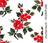 seamless floral pattern... | Shutterstock . vector #452809288