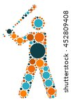 baseball shape vector design by ... | Shutterstock .eps vector #452809408
