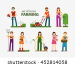 farming and gardening ... | Shutterstock .eps vector #452814058