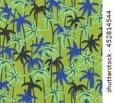 seamless retro style hawaii... | Shutterstock . vector #452814544