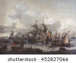 The Battle of the Zuider Zee, 1573, by Jan Blanckerhoff and Johannes Kinnema, 1663, Dutch painting, oil on canvas. On Oct. 11, 1573 the Dutch fleet destroyed a larger and better-equipped Spanish flee