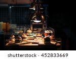 gourmet tasty beef burgers with ... | Shutterstock . vector #452833669