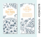 vegetarian pizza banner design... | Shutterstock .eps vector #452842078