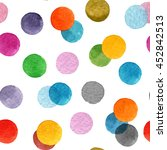 seamless pattern with colorful... | Shutterstock . vector #452842513