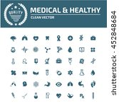 medical icon healthy care icon... | Shutterstock .eps vector #452848684