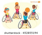 handisport characters. boys and ... | Shutterstock .eps vector #452855194