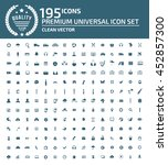 universal website icon set... | Shutterstock .eps vector #452857300