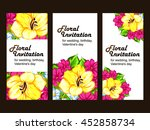vintage delicate invitation... | Shutterstock .eps vector #452858734