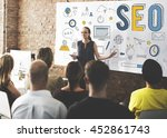 searching engine optimizing seo ...   Shutterstock . vector #452861743