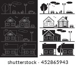 illustration on black... | Shutterstock .eps vector #452865943