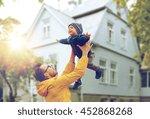 family  childhood  fatherhood ... | Shutterstock . vector #452868268
