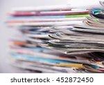 newspapers | Shutterstock . vector #452872450