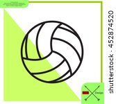 volleyball ball | Shutterstock .eps vector #452874520