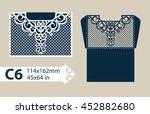 layout congratulatory envelope... | Shutterstock .eps vector #452882680