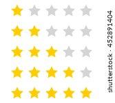 vector stars rating.   Shutterstock .eps vector #452891404