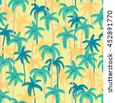 seamless retro style hawaii... | Shutterstock . vector #452891770