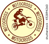 motorcycle sign background | Shutterstock .eps vector #452894260