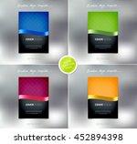 vector brochure or booklet... | Shutterstock .eps vector #452894398