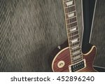 detail close up of a guitar... | Shutterstock . vector #452896240