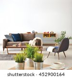 modern living room sofa and... | Shutterstock . vector #452900164