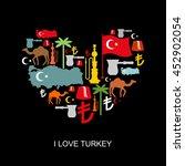 I Love Turkey. Sign Heart Of...