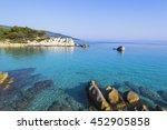 orange beach s rti  greece   Shutterstock . vector #452905858