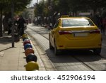 a turkish taxi driving on the... | Shutterstock . vector #452906194