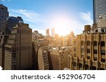 view of skyscrapers in... | Shutterstock . vector #452906704