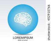 web line icon. human brain | Shutterstock .eps vector #452910766