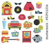 collection of vintage retro... | Shutterstock .eps vector #452911216