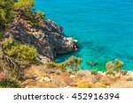 beautiful turquoise water of... | Shutterstock . vector #452916394