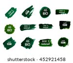 green labels with inscriptions. ...   Shutterstock .eps vector #452921458