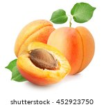 apricots isolated on the white... | Shutterstock . vector #452923750
